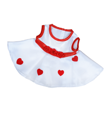Red and White Roses Dress - 8""